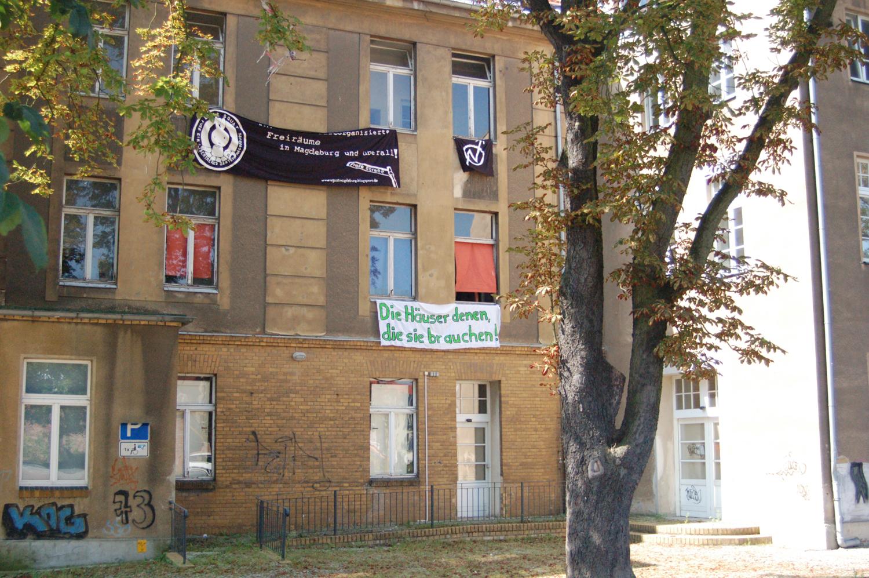 Besetztes Haus in Wittenberg